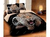 Leopard wild, bavlna, zipový uzávěr