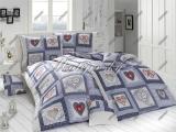 Harmony modré, 100%bavlněné povlečení z hladké bavlny