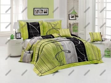 Eternity green, saténové povlečení, 100% bavlna